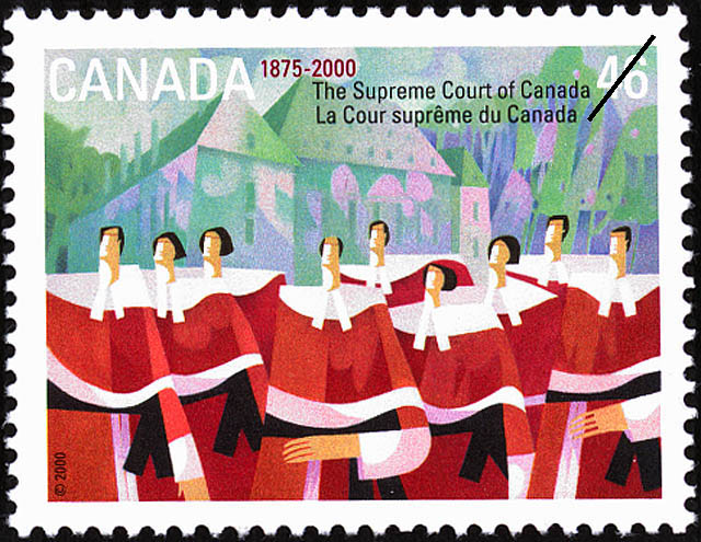 The Supreme Court of Canada, 46-cent stamp issued on April 10, 2000, Canada Post Corporation.