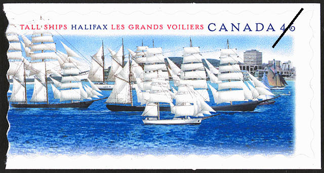 Tall ships, Halifax = Les grands voiliers, Halifax [philatelic record]. (item 1)
