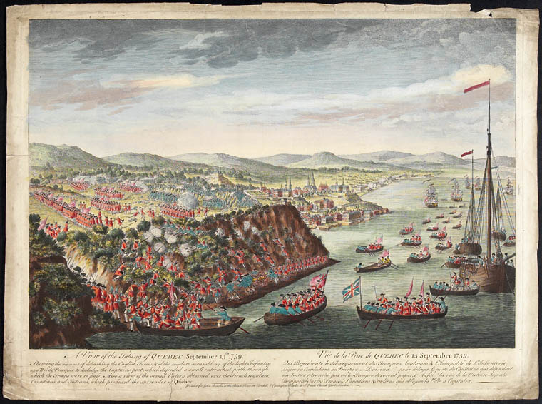 A View of the Taking of Quebec by the English Forces Commanded by Gen. Wolfe Sep 13th 1759, for the London Mag 1760, 1760. CA ANC C-41082