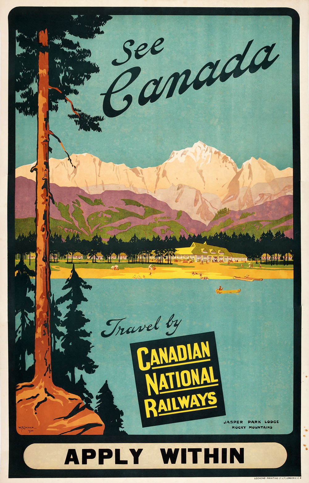 Advertising poster for Canadian National Railways, London, 1924.