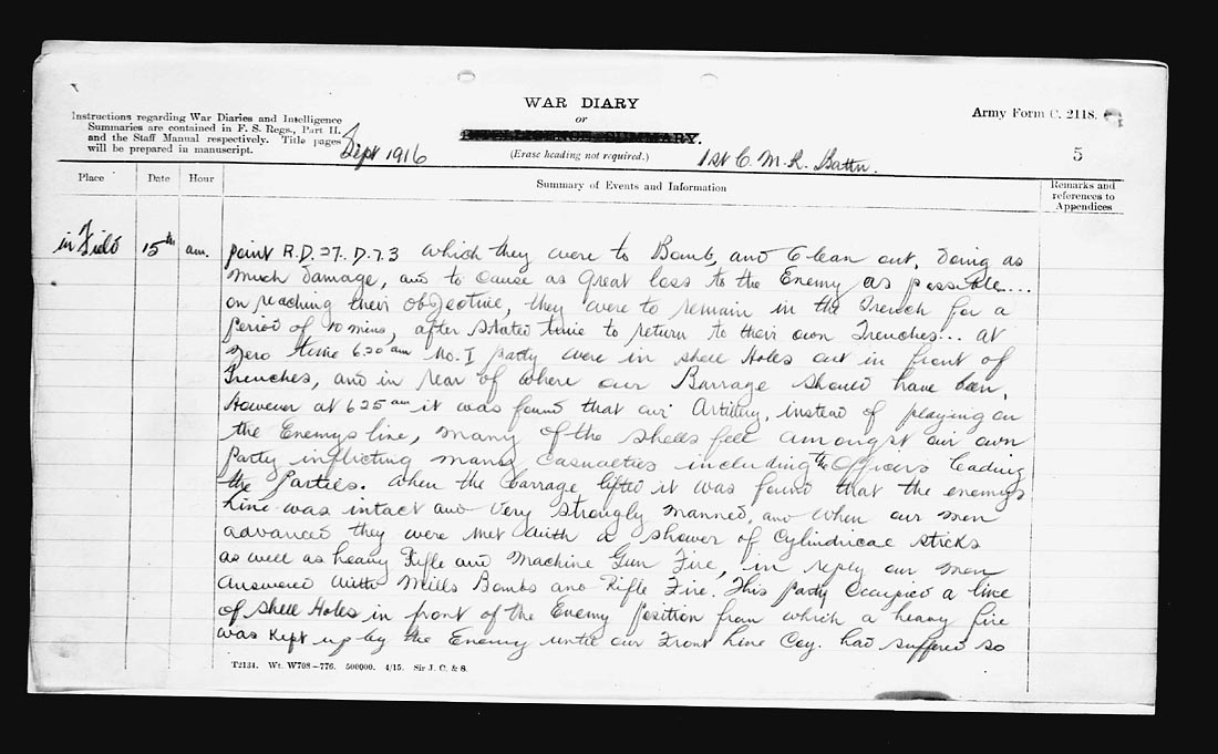 How to write a diary entry from ww1