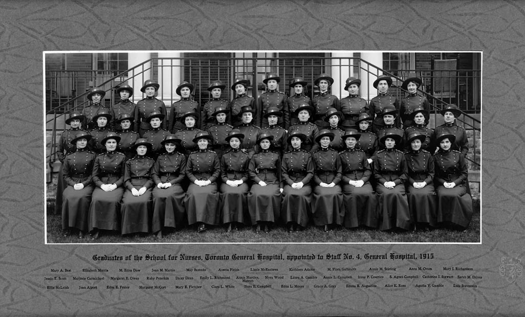 Graduates of the School for Nurses, Toronto General Hospital that were appointed to Staff No.4 General Hospital. (item 1)