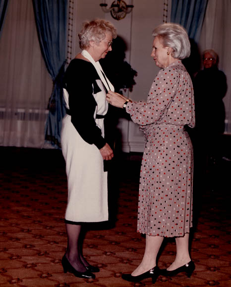 Berenice Sisler receiving the Governor General's award for the Persons Case. (item 1)
