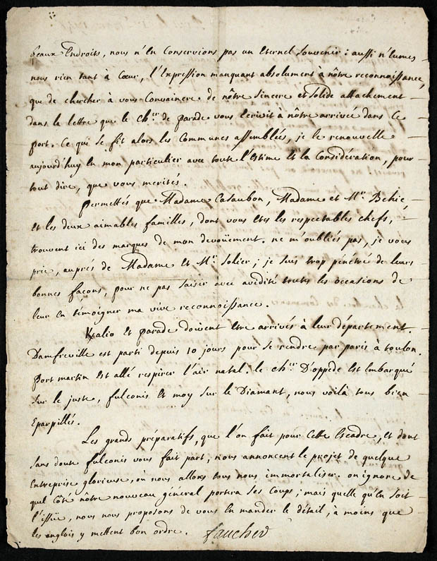 Journal de Faucher sous forme de lettres [document textuel]. (item 2)