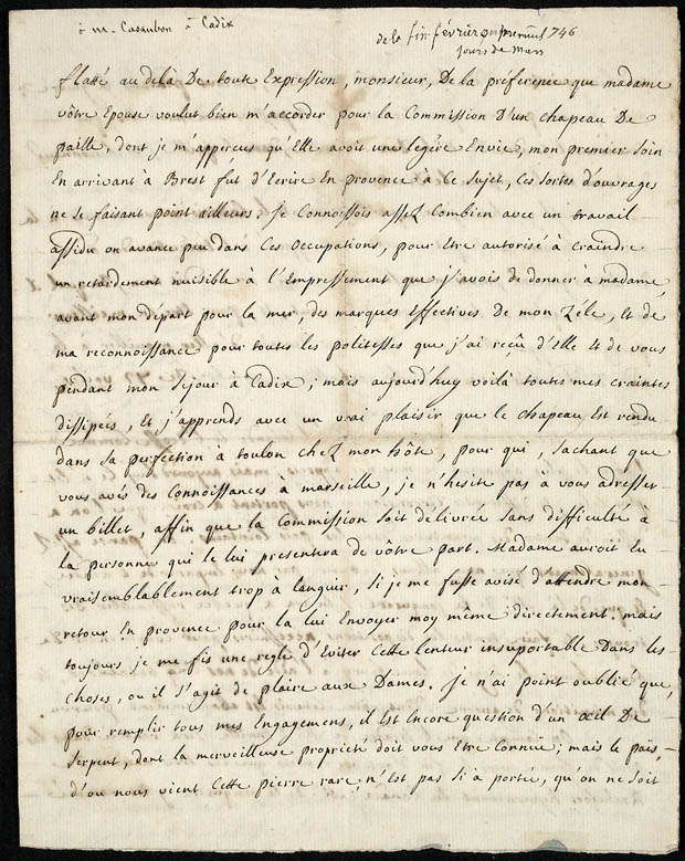 Journal de Faucher sous forme de lettres [document textuel]. (item 3)