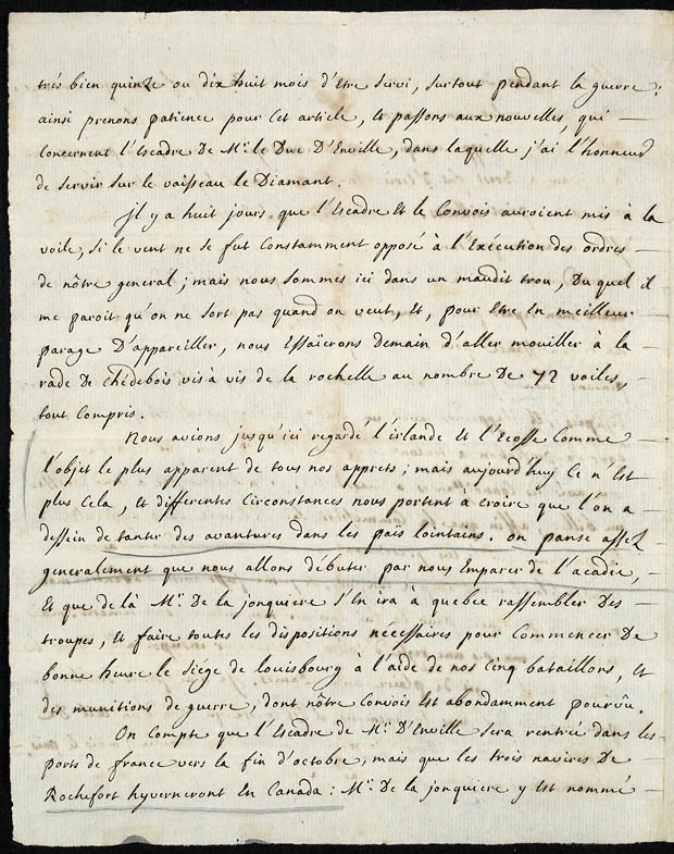 Journal de Faucher sous forme de lettres [document textuel]. (item 4)