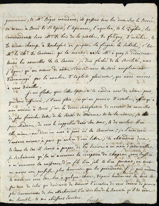 Journal de Faucher sous forme de lettres [document textuel]. (item 5)
