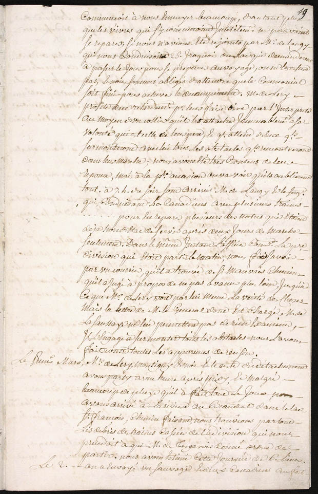 [Journal de la campagne de M. de Léry . ...]. (item 3)