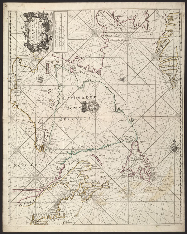 A Chart of ye north part of America, for Hudson Bay comonly called ye North West Passage