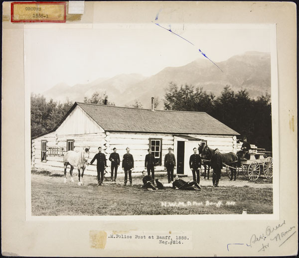 NWMP Post, Banff, Alberta, 1888. (item 1)