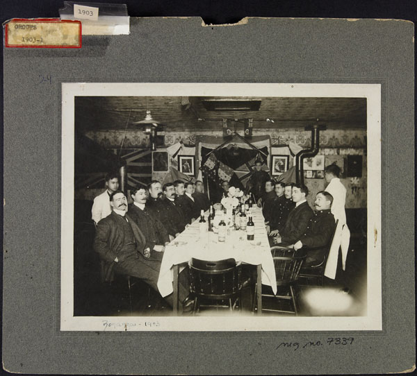 Christmas dinner, Bonanza Detachment, Yukon Territory, 1903. (item 1)