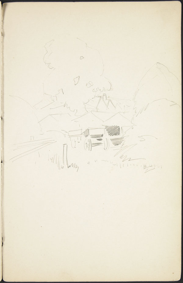 Preliminary outline sketch of a farm at Whitley, England