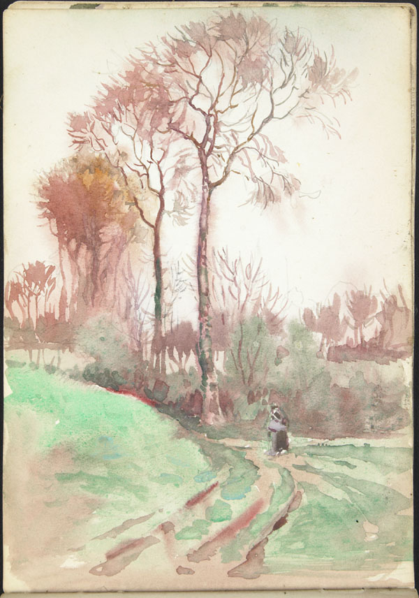 Landscape and peasant woman, Somme