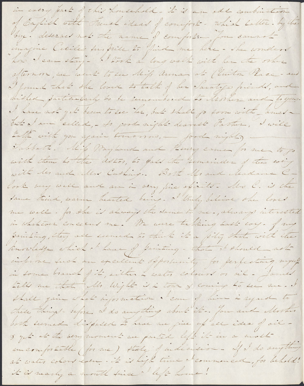 [Correspondence of Mary Westcott] 1845. (item 2)