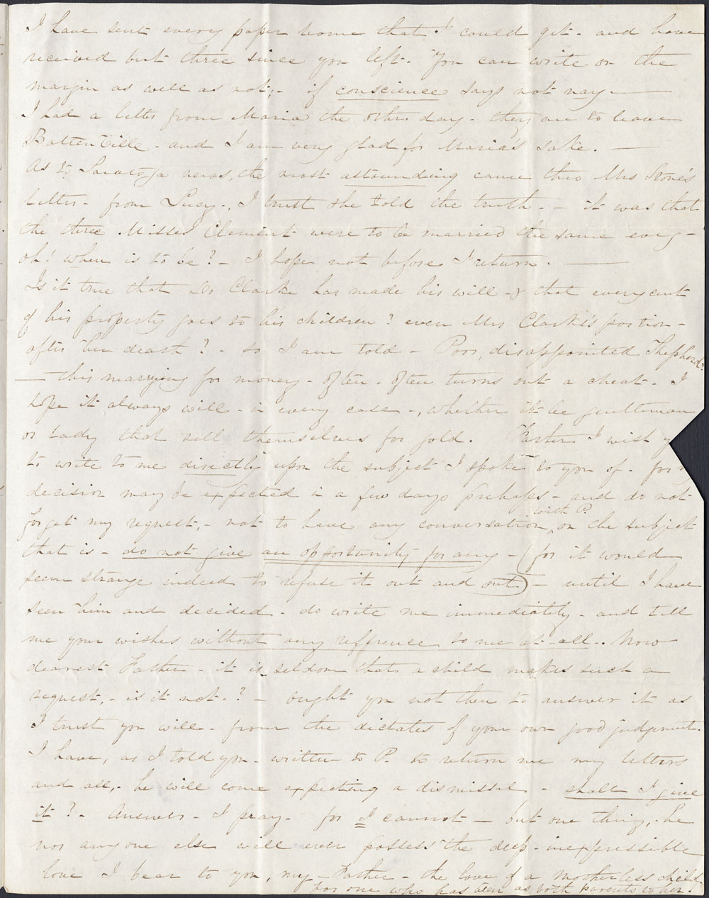[Correspondence of Mary Westcott] 1845. (item 3)