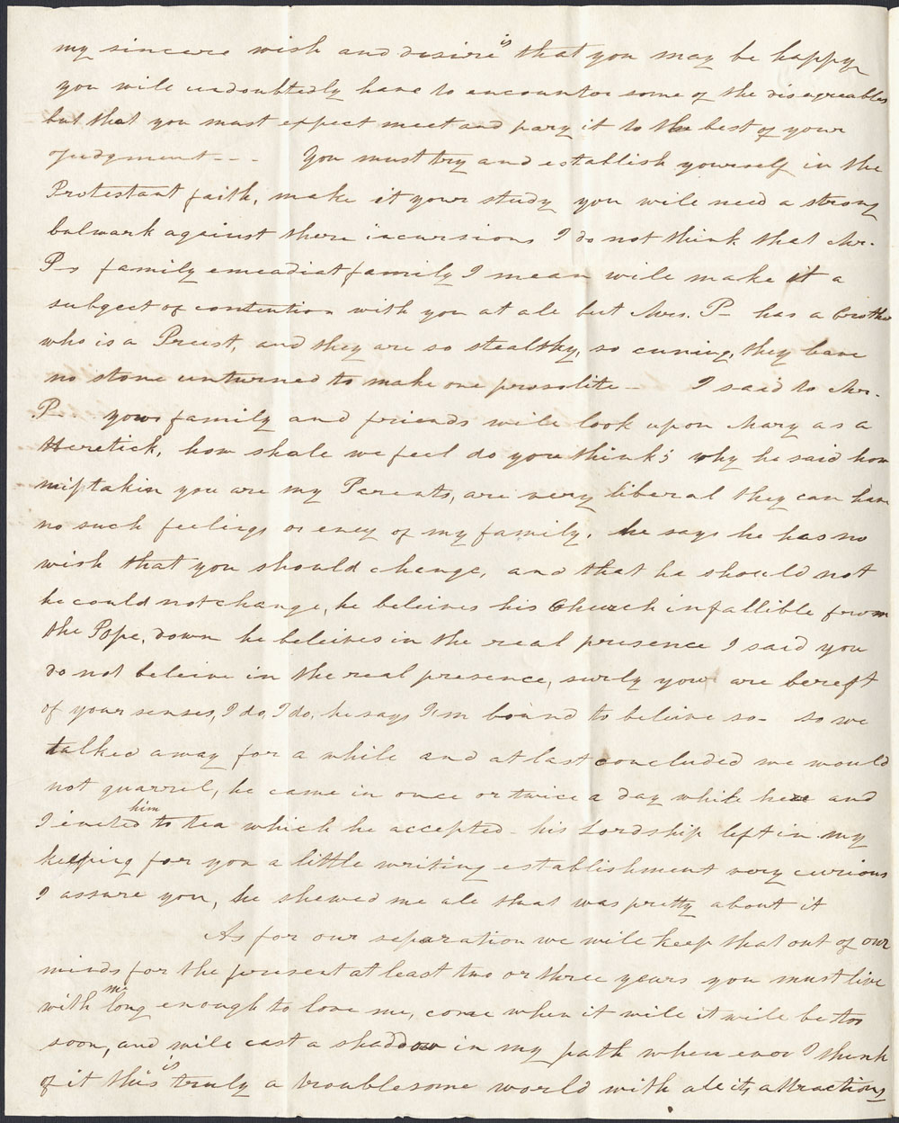 [Correspondance de Mary Westcott] 1845 . (item 6)