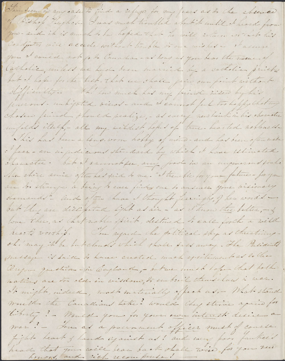 [Correspondence of Mary Westcott] 1846. (item 2)