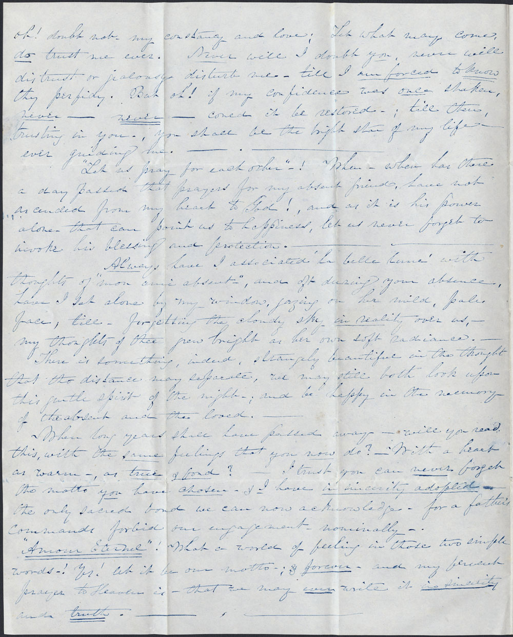 [Correspondance de Mary Westcott] 1843 . (item 8)