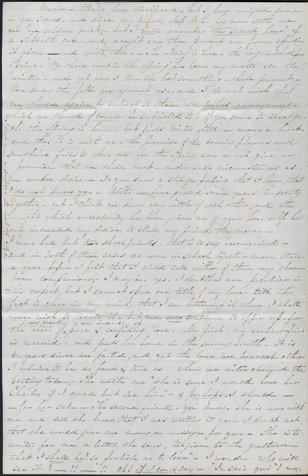 [Correspondence of Mary Westcott] 1844. (item 2)