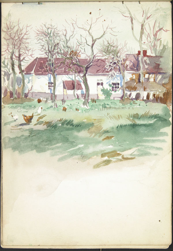 White buildings and chickens, Somme