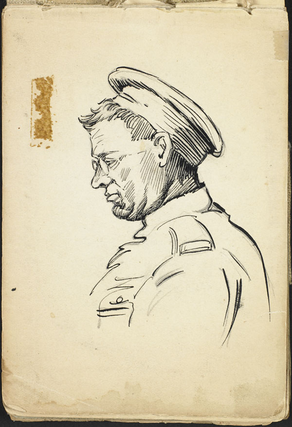 Portrait of a soldier, French Flanders