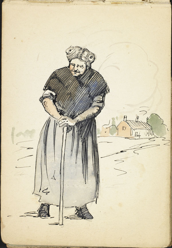 Woman with a cane, French Flanders