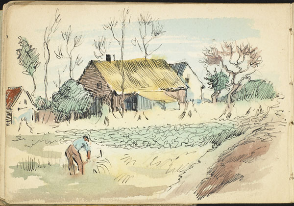 Man working the fields, French Flanders