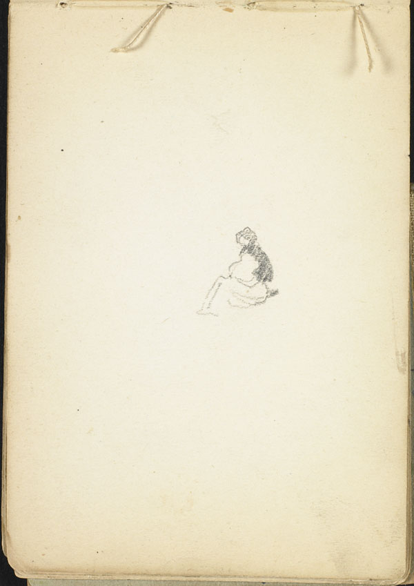 Distant view of a seated figure, French Flanders