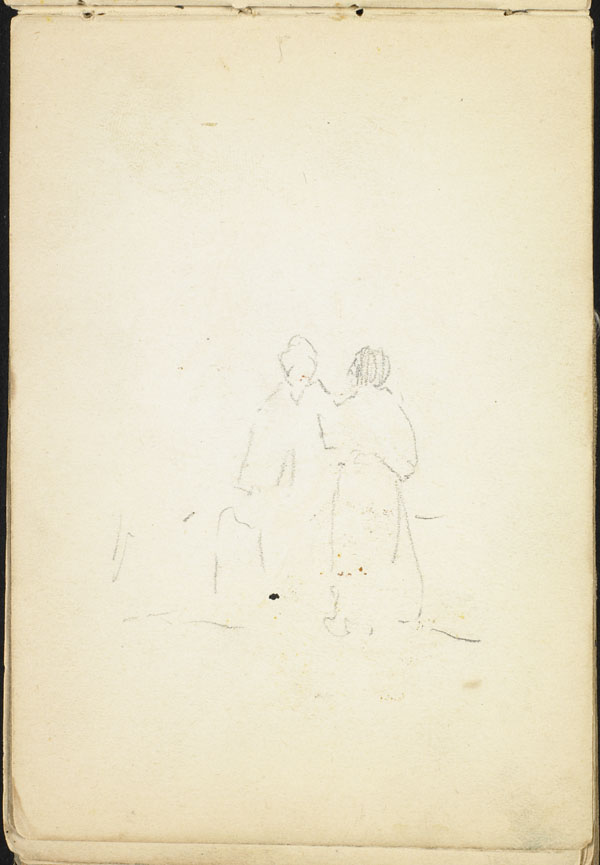Two women from a distance, French Flanders