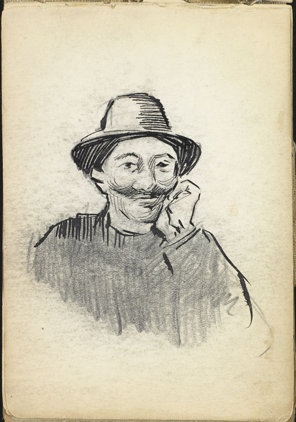Mustachioed man with hat, French Flanders