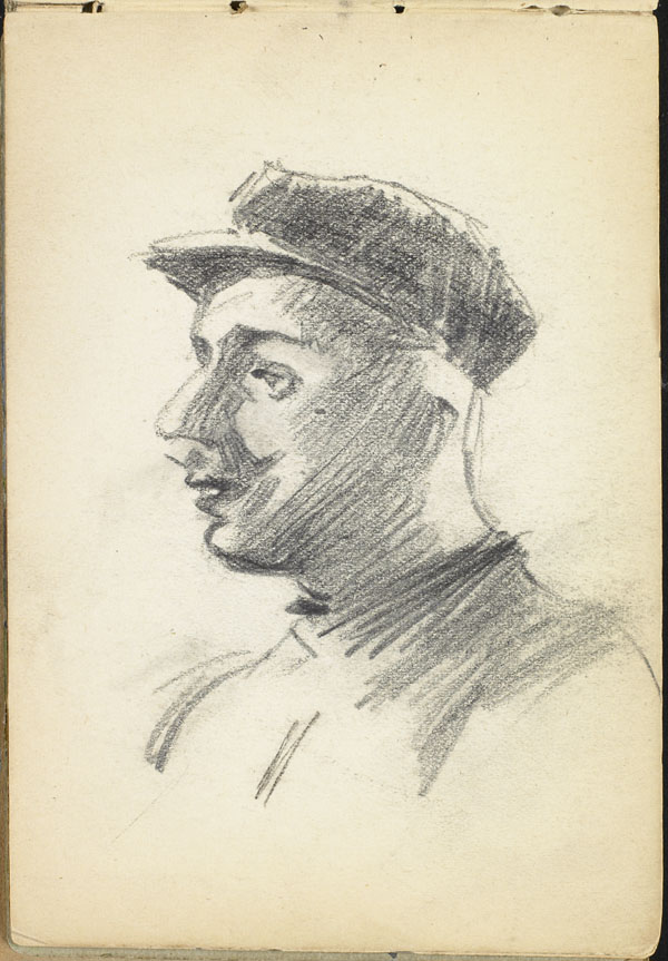 Mustachioed man with cap, French Flanders