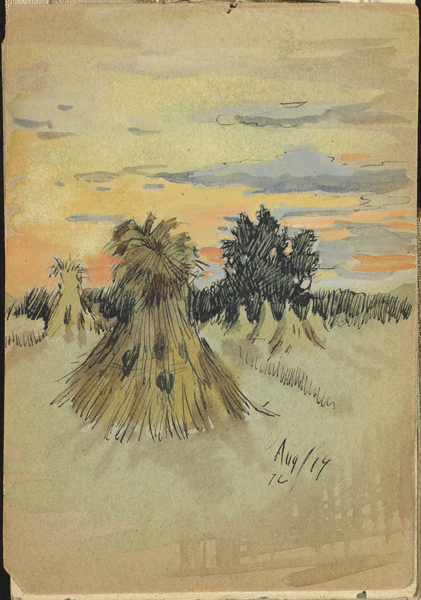 Haystacks, French Flanders (e008315341)