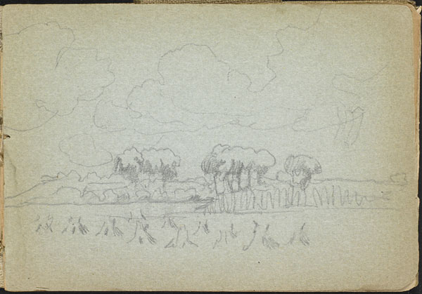 Landscape with trees and haystacks, French Flanders