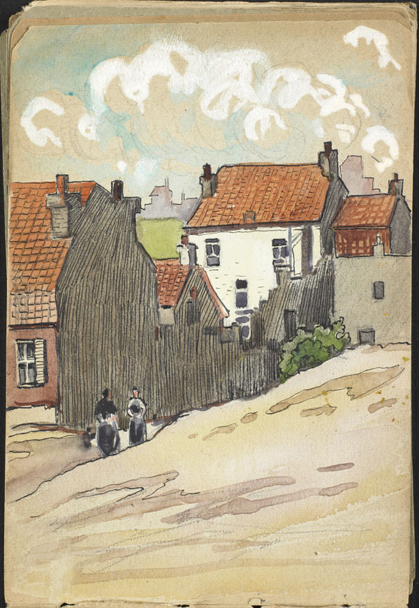 View of a town in French Flanders