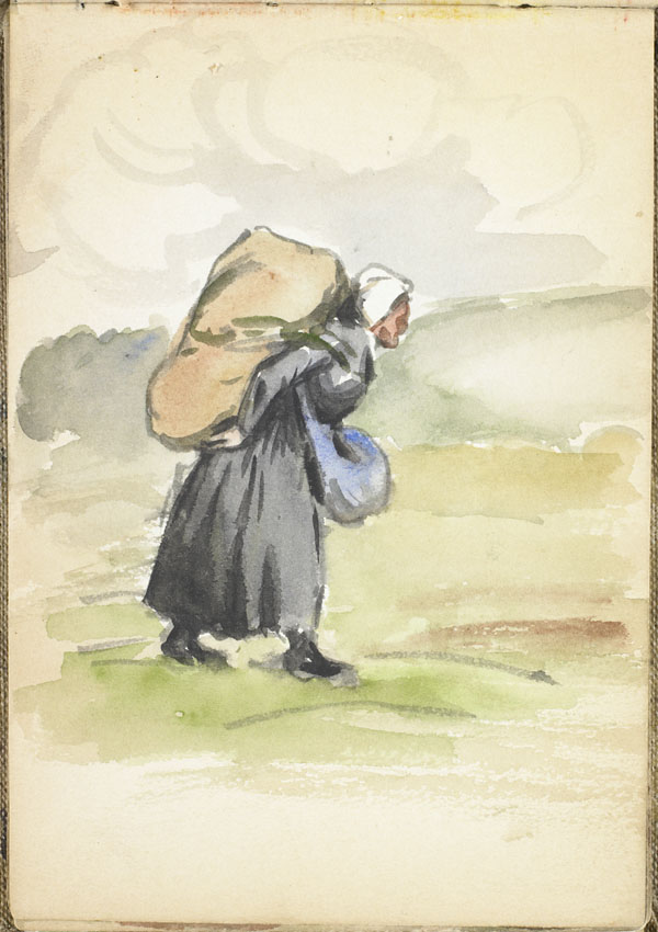Woman carrying a large sack on her back, Pas-de-Calais