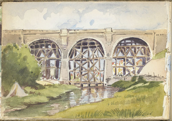 Wimereux viaduct reinforced by the 1st Battalion, Canadian Railway Troops