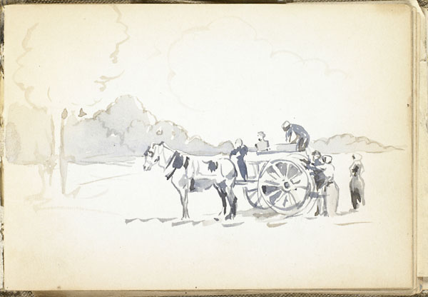 Peasants loading a horse-drawn cart, Somme