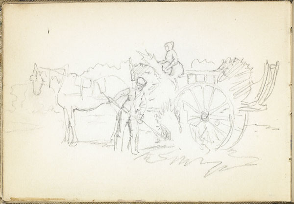 Peasants haying with a horse and cart, Somme (e008315376)