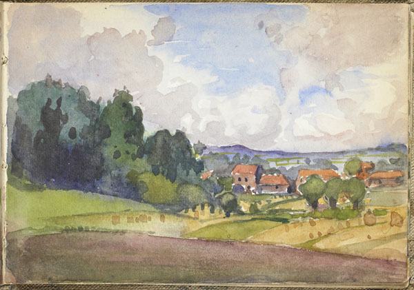 Landscape with a view of a hamlet, Somme