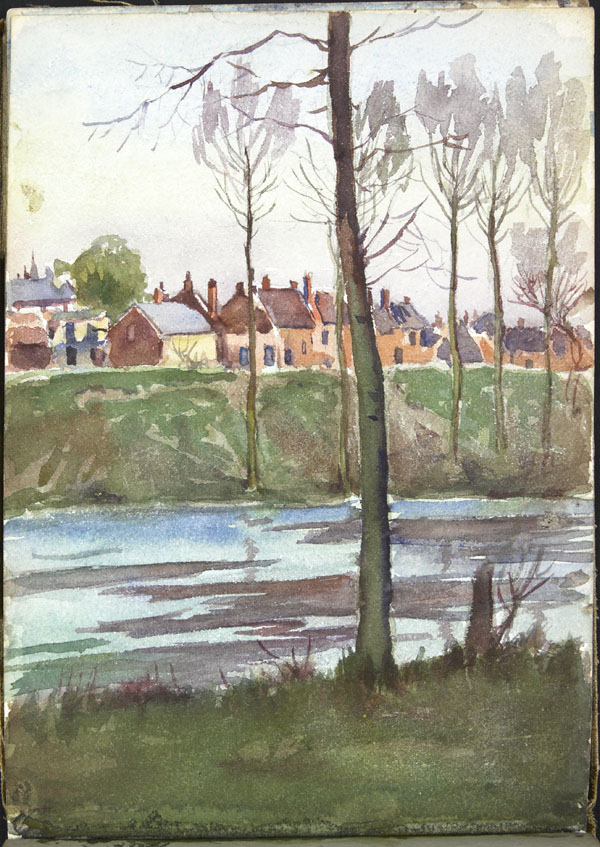 View of a town from a river, Somme (e008315409)