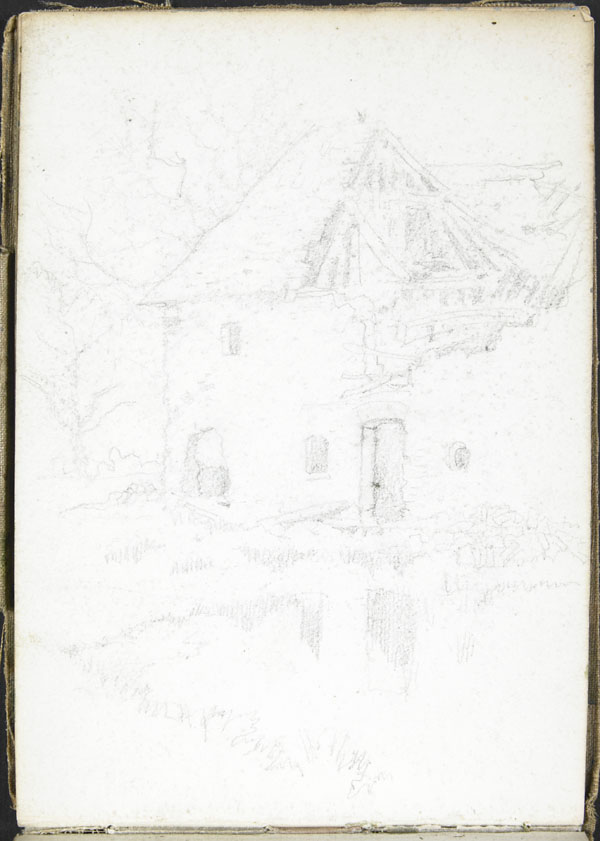 Édifice rural endommagé, Somme