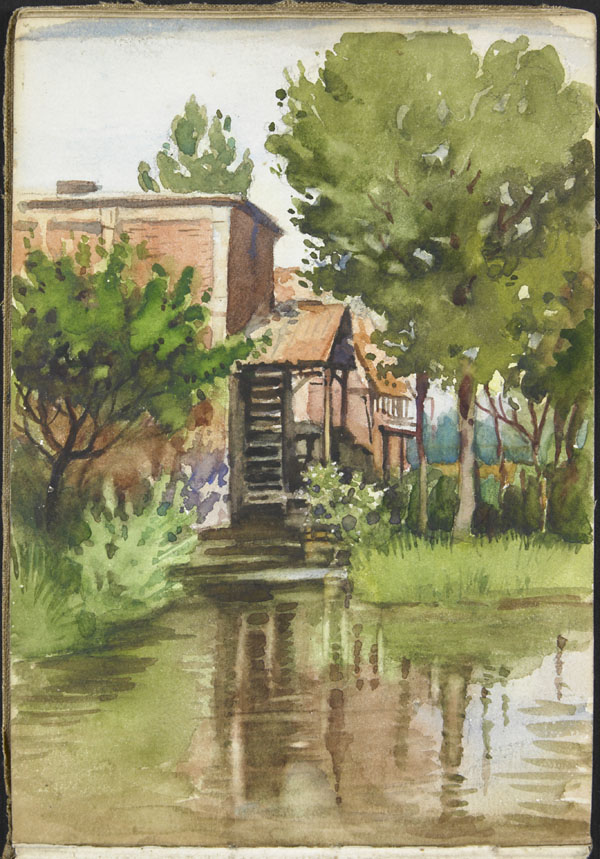 View of a riverside mill, Somme