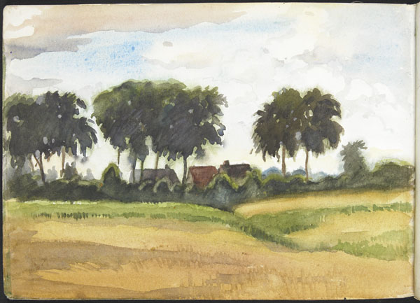 Landscape with buildings and trees (e008315431)