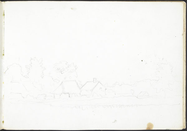 Landscape with buildings and haystacks (e008315433)