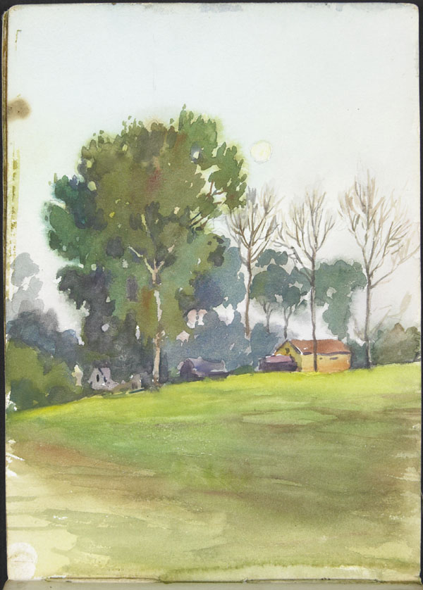 Landscape with buildings and trees (e008315434)