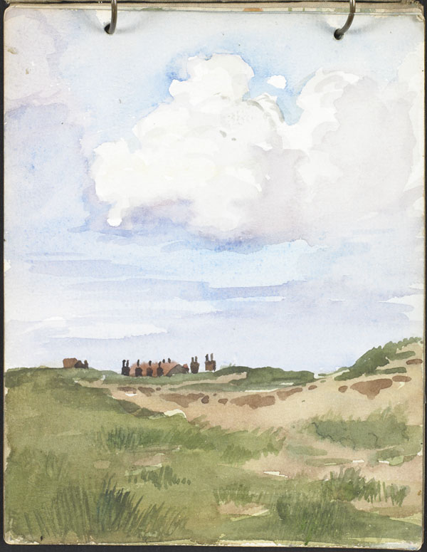 Rooftops seen from the dunes, French Flanders