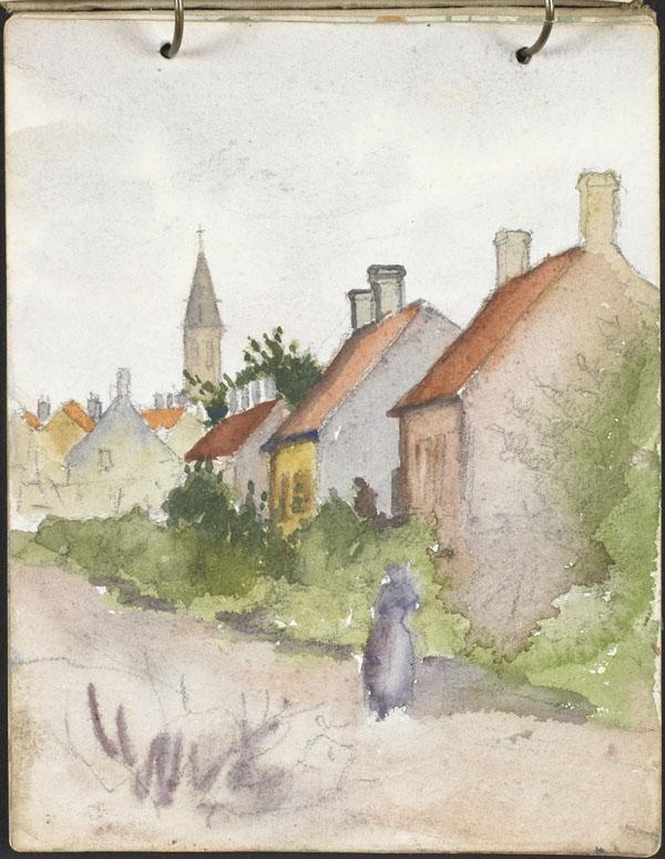 Vue de Rosendaël et du clocher de l'église Notre-Dame