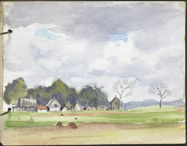 Paysage avec une ferme, Flandre française