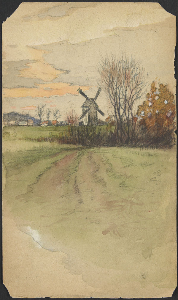 Landscape with windmill, Belgium