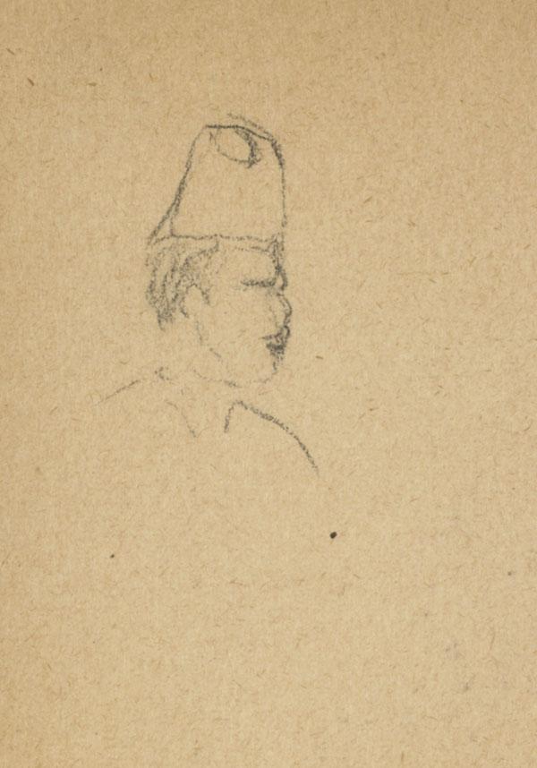 Homme moustachu coiffé d'un chapeau, Belgique